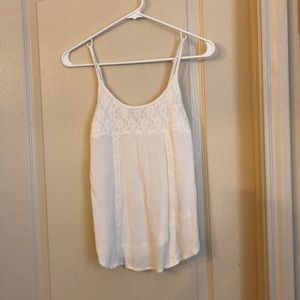 Mossimo Suppy Co White Lace Tank Top  XS